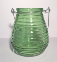 Beehive Glass Coloured Tea Light ~ Green